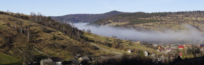 Carpathian village pano